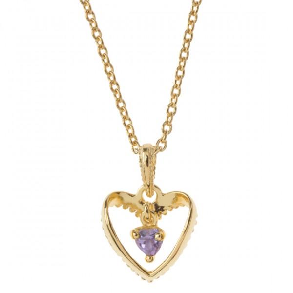 SWINGING HEART IN HEART-Kette