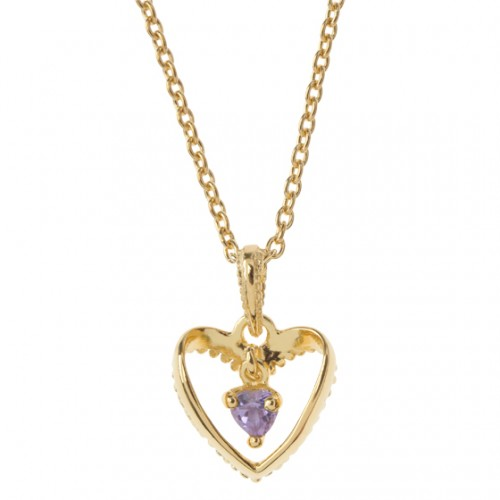 SWINGING HEART IN HEART-Kette
