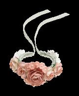 Blumenarmband apricot_Satinband