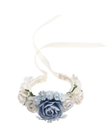 Blumenarmband blau mit Satinband_Hope22