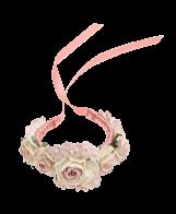 Blumenarmband rosa_Satinband