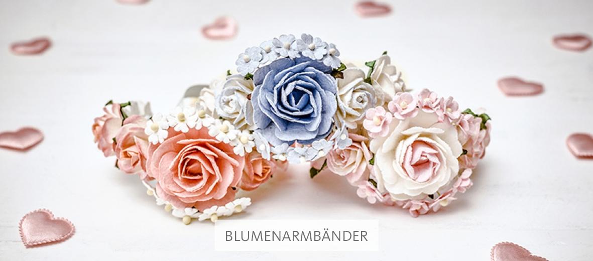 Handgemachte Blumenarmbänder aus München von Hope22